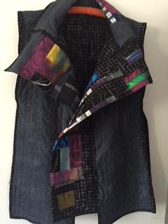 Pat vest front open draped