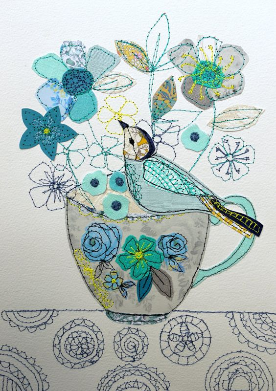 bird stitched piece