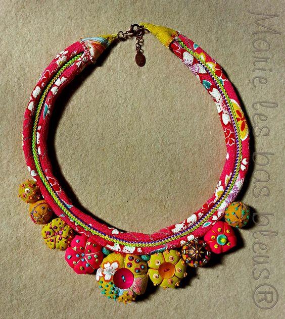 fiber-jewelry-red